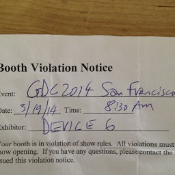 Booth Violation Notice